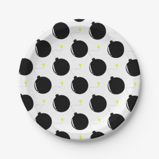 bomb paper plate