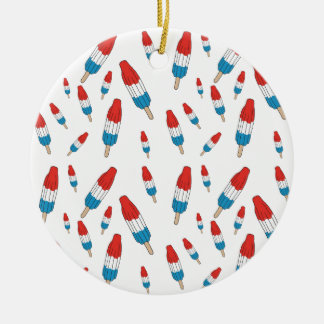 Bomb Pop Pattern Ceramic Ornament