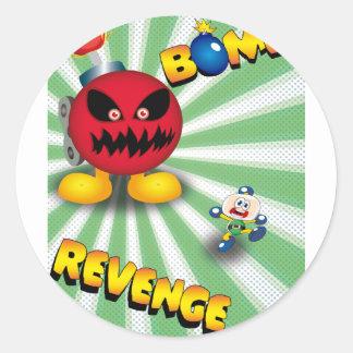 Bomb Revenge Classic Round Sticker