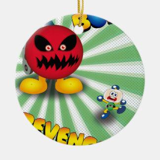 Bomb Revenge Round Ceramic Ornament