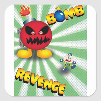 Bomb Revenge Square Sticker