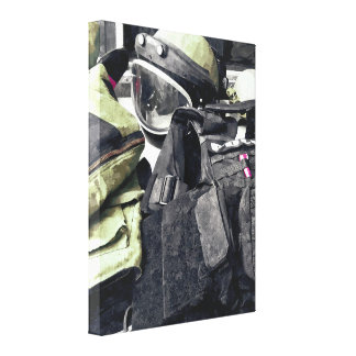 Bomb Squad Uniform Canvas Print