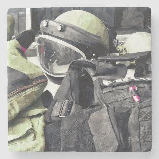 Bomb Squad Uniform Stone Coaster