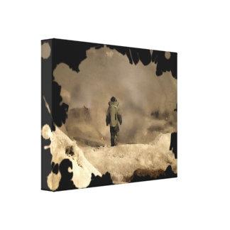 Bomb Suit walking Canvas Print