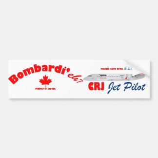 Bombardi eh CRJ Jet Pilot Bumper Stickers