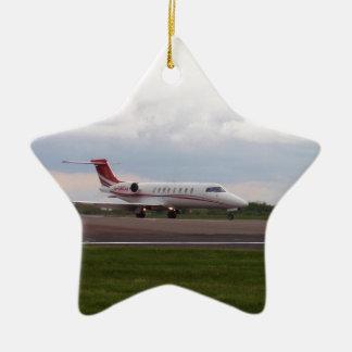 Bombardier Lear Jet 45XR Ceramic Star Ornament