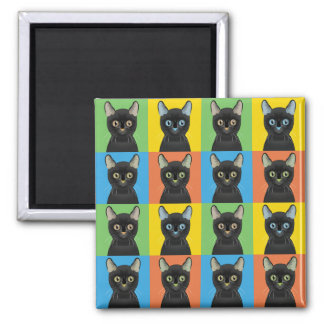 Bombay Cat Cartoon Pop-Art Magnet