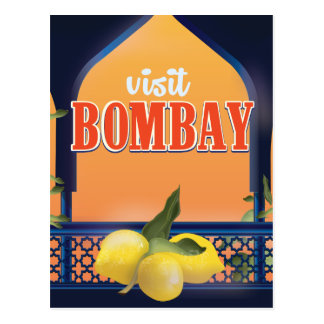 Bombay Vintage Travel Print. Postcard