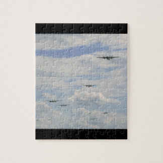 Bomber Formation, Aerial View_WWII Planes Puzzles