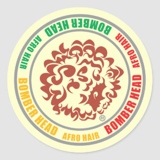 BOMBER-HEAD-RASTA (Sticker) Classic Round Sticker
