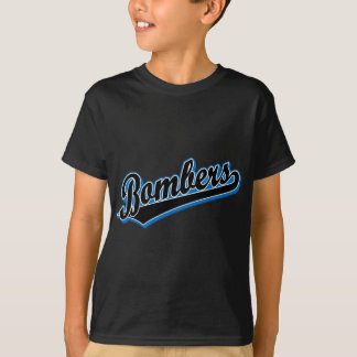 Bombers in Black and Blue T-Shirt