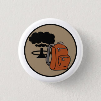 Bombshell Scouts Bugout Bag Merit Badge 1 Inch Round Button