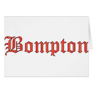 Bompton red card