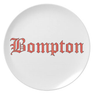 Bompton red party plates