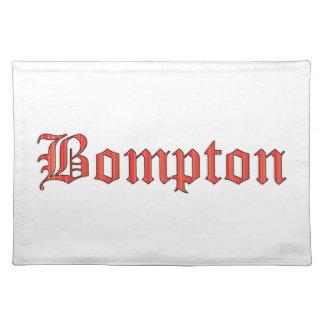 Bompton red place mat