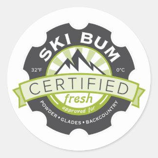 Bon à rien certifié de ski sticker rond