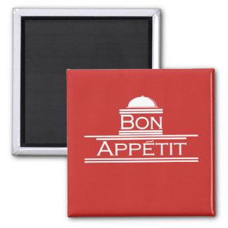 Bon Appetit-Enjoy Your Meal Square Magnet