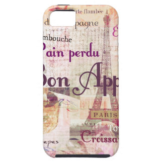 Bon Appetit French cuisine words and pictures iPhone 5 Covers