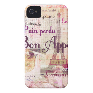 Bon Appetit French cuisine words and pictures Case-Mate iPhone 4 Cases