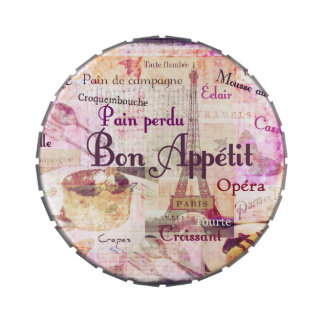 Bon Appétit French food words Paris theme art