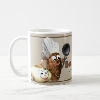 Bon Appétit - Mug - Potato Chef and Onion - Humor