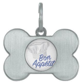Bon Appetit Pet Name Tag