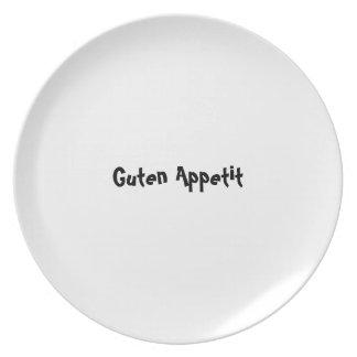 Bon appetit plate series - German - Guten Appetit