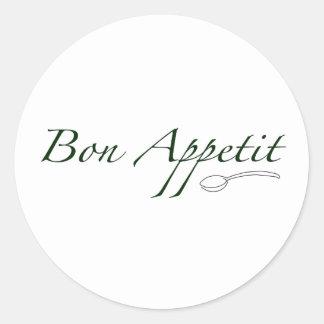 Bon Appetit Round Sticker