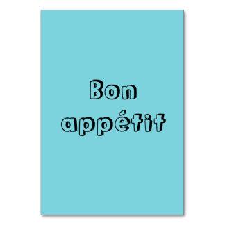 Bon appetit table cards