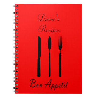 Bon Appetit Table Setting Recipe Notebook
