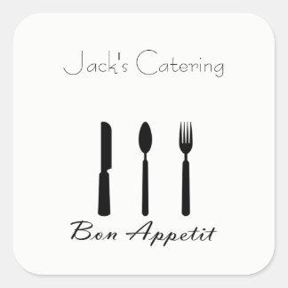 Bon Appetit Table Setting Sticker