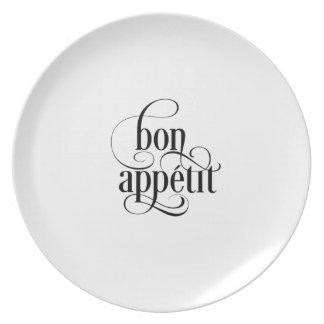 Bon Appetit Typography Plate