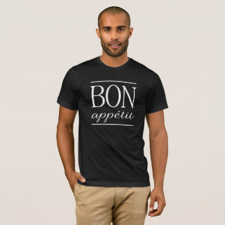BON APPETIT White Typography Quote Text Print T-Shirt