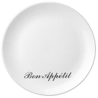Bon Appetite Plate Porcelain Plates