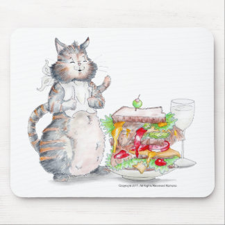 Bon Appitet Cat Mouse Pad