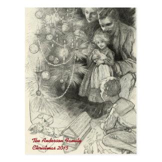 Bon Noël démodé vintage personnalisé Carte Postale