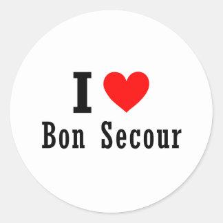 Bon Secour, Alabama City Design Round Sticker