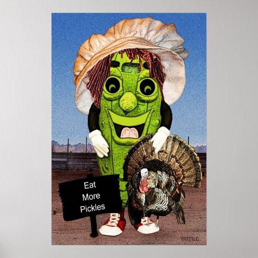 Bon thanksgiving avec l'affiche d'aneth de chariot