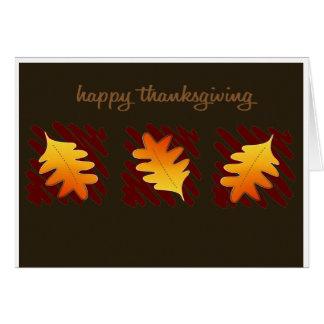 Bon thanksgiving carte de vœux