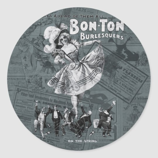 Bon-tonne Classic Round Sticker