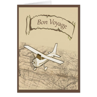 Bon Voyage Airplane Card
