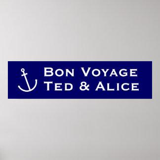 Bon Voyage Banner Poster