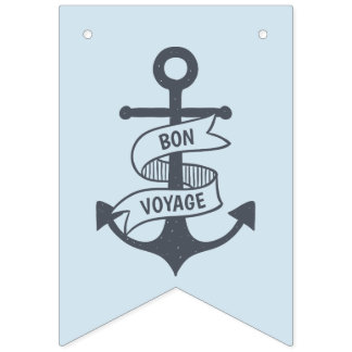 Bon Voyage! Bunting Flags