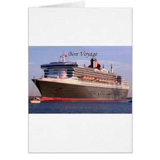 Bon Voyage: cruise ship Card