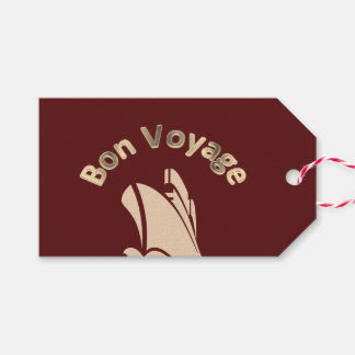 Bon Voyage Cruise Ship Custom Pack Of Gift Tags
