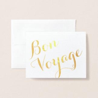 Bon Voyage Foil Card
