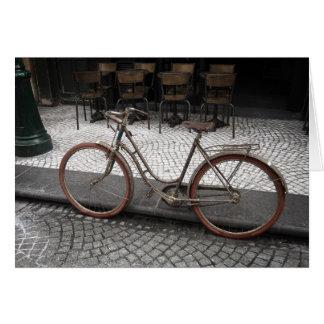 Bon Voyage Greeting Card - Old Bike in Paris