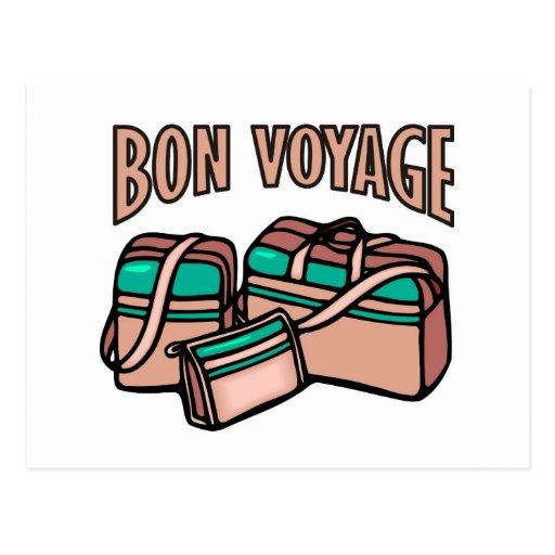 Bon Voyage, have a good trip! Luggage & suitcases Postcard