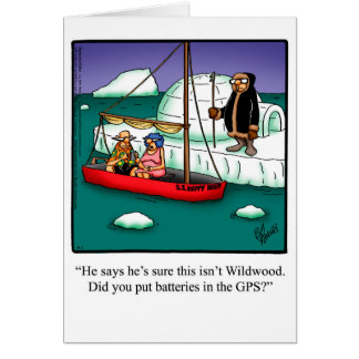 "Bon Voyage Humor Greeting Card ""Spectickles"""
