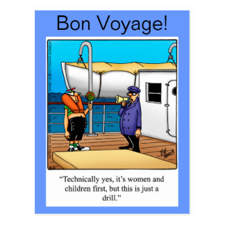Bon Voyage Humor Postcard